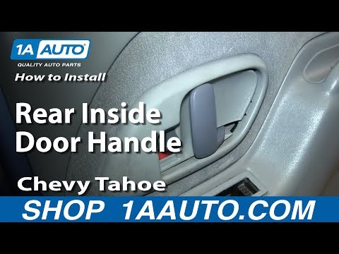 How To Install Replace Rear Inside Door Handle 1995-99 Chevy Tahoe GMC Yukon