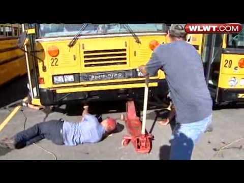 Vandals Flatten Batesville School Bus Tires