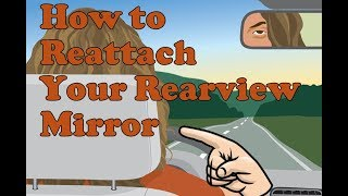 How to reattach your rear view mirror with Permatex mirror adhesive