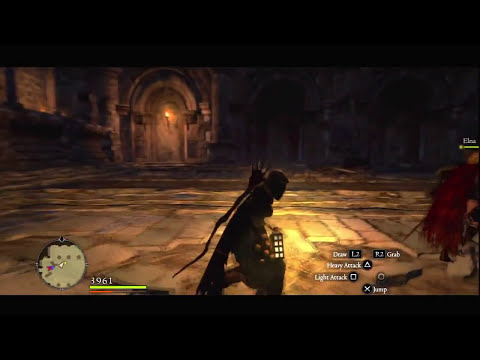 Dragon's Dogma - Dark Arisen - Dark Bishop + Cursed Dragon Boss Battle