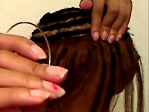 Sew in tutorial-  invisible ponytail with versitility