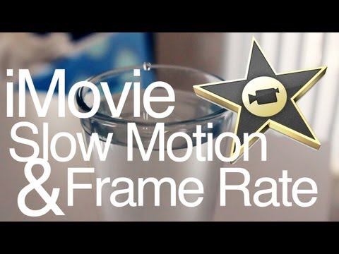 how to change frame rate on i movie