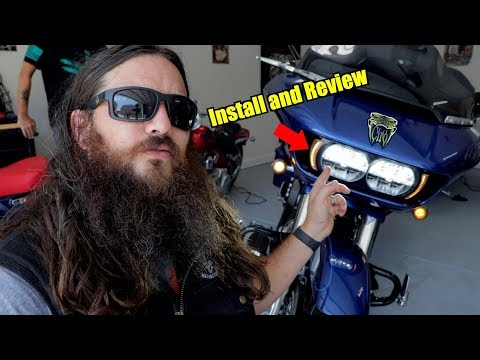 Road Glide Fang LED Bezel by CIro Install and Review