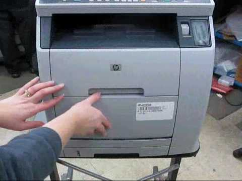 Replacing the fuser and rollers in an HP LaserJet 2820 2830 2840 All In One Printer