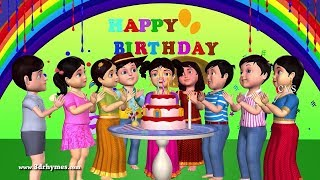 Happy Birthday Song 3d Animation English Nursery Rhymes Songs For Children