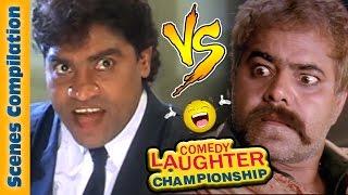 Sanjay Mishra Comedy Scenes  Vs Johnny Lever Comedy Scenes {HD} - 1 - Comedy Laughter Championship