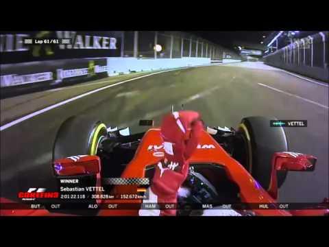 Vettel team radio after his win Singapore GP 2015