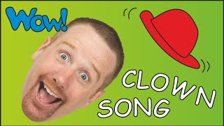 Song for Children about Clowns | Funny Steve the Clown in Baby Songs | ESL Learn English Speaking