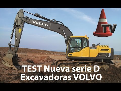 TEST Excavadoras VOLVO Nueva SERIE D - Mercado Vial TV