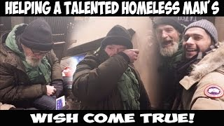 Helping a Talented Homeless man