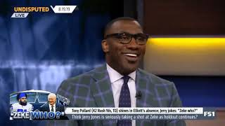 UNDISPUTED - Shannon Sharpe: Was Jerry Jones serious when he made light of Zeke situation?