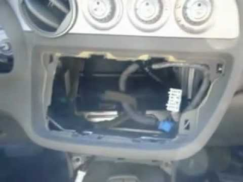 2002 Acura rsx removal of stock radio