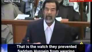 Saddam Husseins final speach