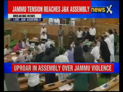 Uproar in Jammu and Kashmir assembly over temple desecration issue