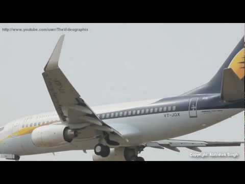 Jet Airways Boeing 737s Landing @ IGI