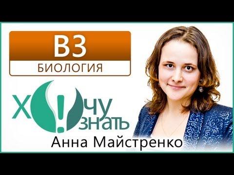 B3 по Биологии Демоверсия ЕГЭ 2013 Видеоурок