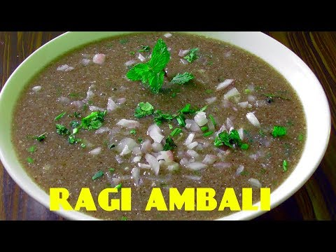 HEALTHY RAGI MALT RECIPE/how to make ragi ambali/ragi malt for weight loss
