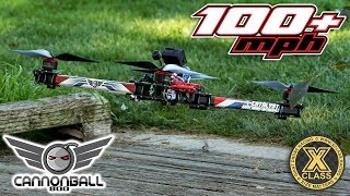 100+ mph // 12S Cannonball 800 // X-Class Giant Racing Drone Freestyle