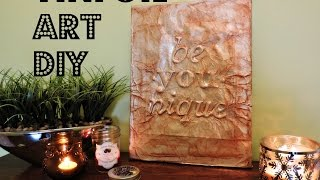 2 MINUTE DIY: Tinfoil Art - Cheap & Chic!