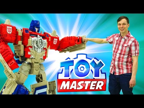 Игры #Трансформеры для детей: Toy Master против десептиконов! Отключаем энергощит! Фабрика Героев.