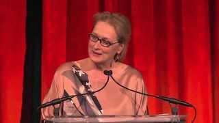 Meryl Streep: Touching Speech & Dramatic Reading