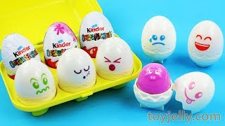 Learn Colors with Surprise Egg Box Microwave Kinder Surprise Eggs Nursery Rhymes Fun for Kids