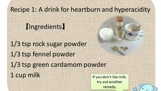 ayurvedic home remedy for hyperacidity, heartburn, and inflammation in the mouth...