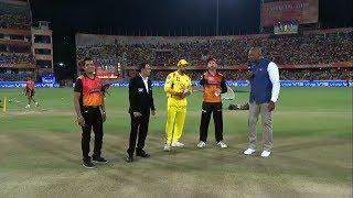 CSK win the toss, elect to bat vs hydrabad   Dhoni हुए टीम से  बाहर Raina बने कप्तान    CSK vs SRH