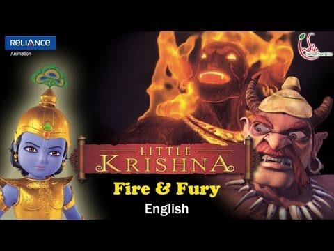 Little Krishna English Episode 5 fire & Fury Animation Series video