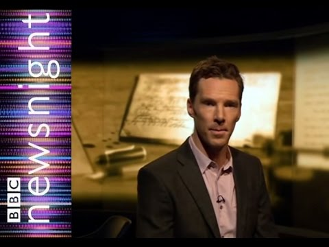 Benedict Cumberbatch reads William Safire's Moon landings letter- Newsnight