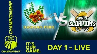*LIVE West Indies Championship* - Day 1 | Barbados v Jamaica | Thursday 13 December 2018