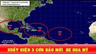 3 Cơn bão mới cùng xuất hiện trên Đại Tây Dương: Nỗi kinh hoàng của người Mỹ