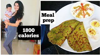 What I eat in a day to lose weight | 1800 calories meal plan Post pregnancy weightloss plan