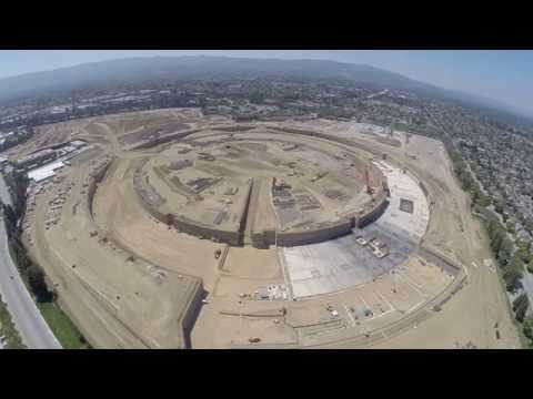 Apple Campus 2 construction video - August 2014 - shot with GoPro...