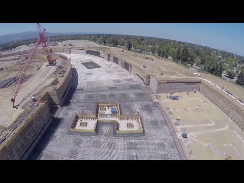 Apple Campus 2 construction video - August 2014 - shot with GoPro