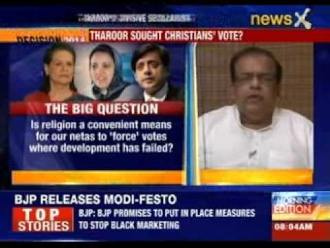 Shashi Tharoor Sought Christians' Vote? video