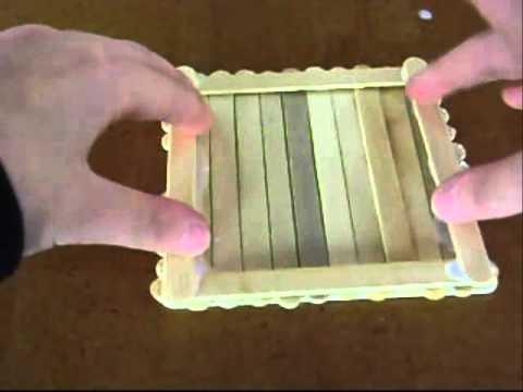Diy como hacer una caja de palitos de helado d youtube - Manualidades con cajas de madera ...