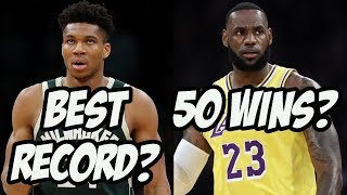 Reacting To 2019 - 2020 NBA Win Projections - Lakers Underrated?