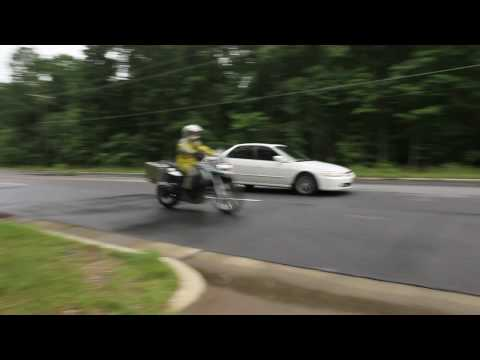 ABS Test  -  BMW F650GS vs. Honda Accord