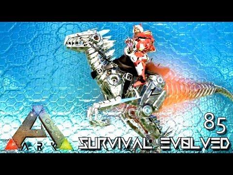 ARK: SURVIVAL EVOLVED - NEW ALPHA TEK RAPTOR & BIONIC GIGA GIGANOTOSAURUS E85 (MOD EXTINCTION CORE)