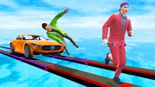 Only ONE PLAYER Can SURVIVE The Tightrope! - GTA 5 Funny Moments