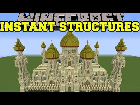 Minecraft: INSTANT STRUCTURES EPIC PALACE BETTER HOUSES UNIQUE STRUCTURES MORE Mod Showcase