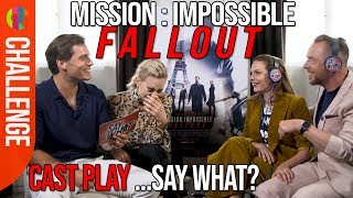 Download Song Mission Impossible: Fallout cast play SAY WHAT!? Free StafaMp3