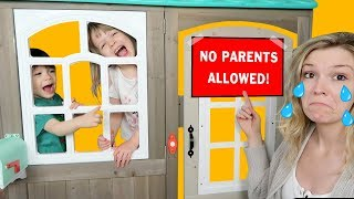 KIDS ONLY Playhouse Pillow Fort - No Parents Allowed! Unboxing L.O.L. Surprise & Ryan's World Toys!