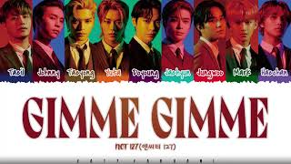 NCT 127 - 'GIMME GIMME'  Color Coded_Kan_Rom_Eng