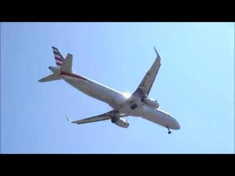 Jets landing at LAX