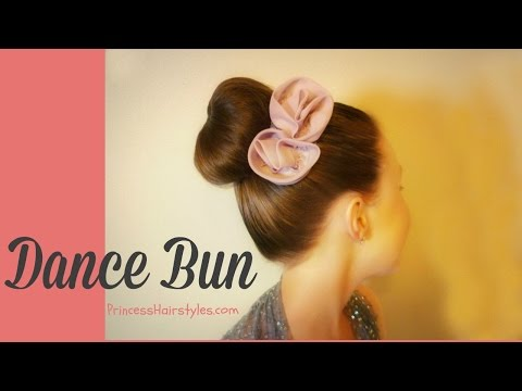 How To Make A Donut Bun / Sock Bun With No Ends. Dance Hairstyles