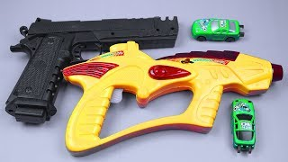 Box Full Of Toys with Realistic Music Toy Guns from the Box - Toy Guns Toys for Kids Rhymes Songs
