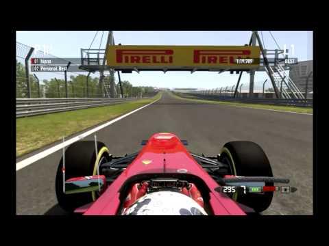 F1 2011 Codemasters Game New Delhi lap record in Ferrari 1:19:024