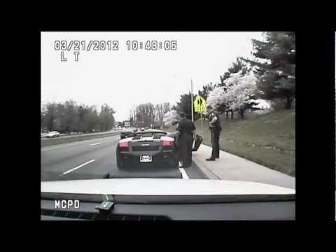 Police Pull Over Batman in Lambo. Say Hi. Take Pictures. FUNNY! DASH CAM Footage! - YouTube